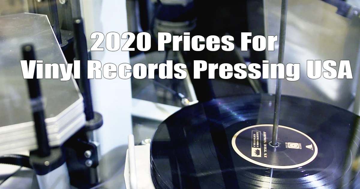 2020 USA Prices vinyl records pressing