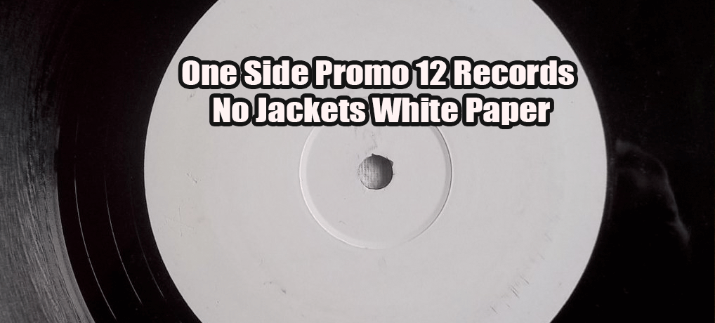 One Side Promo 12 Records No Jackets White Paper